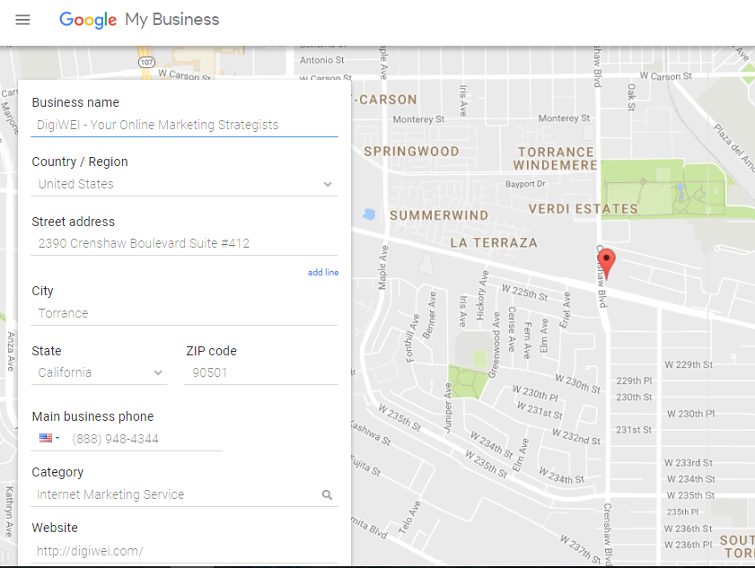 Google My Business Torrance, ca