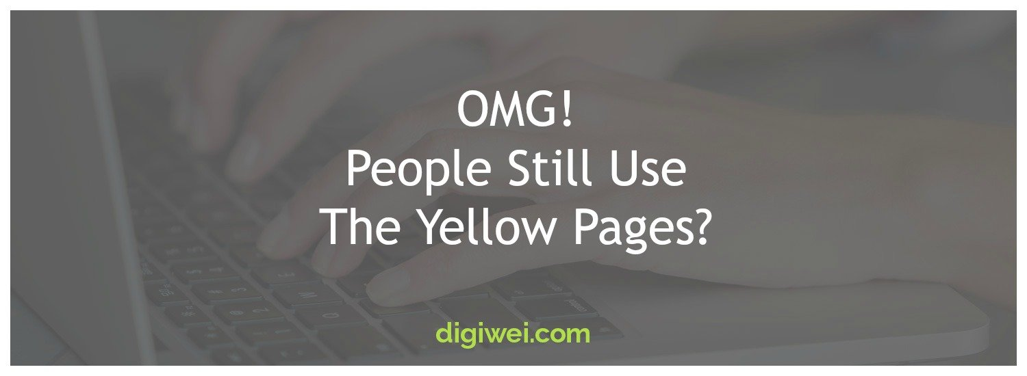 omg people still use the yellow pages digiwei